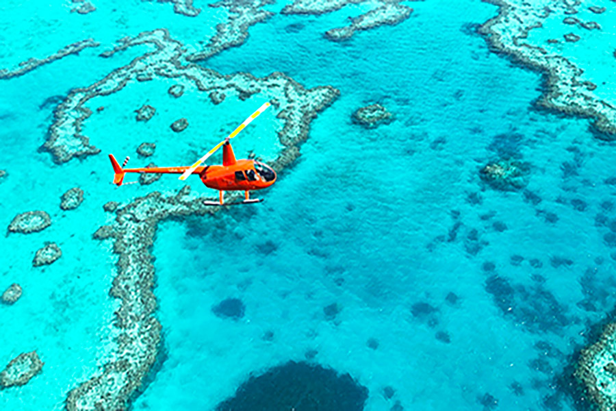 Hélicoptère Whitsunday Islands